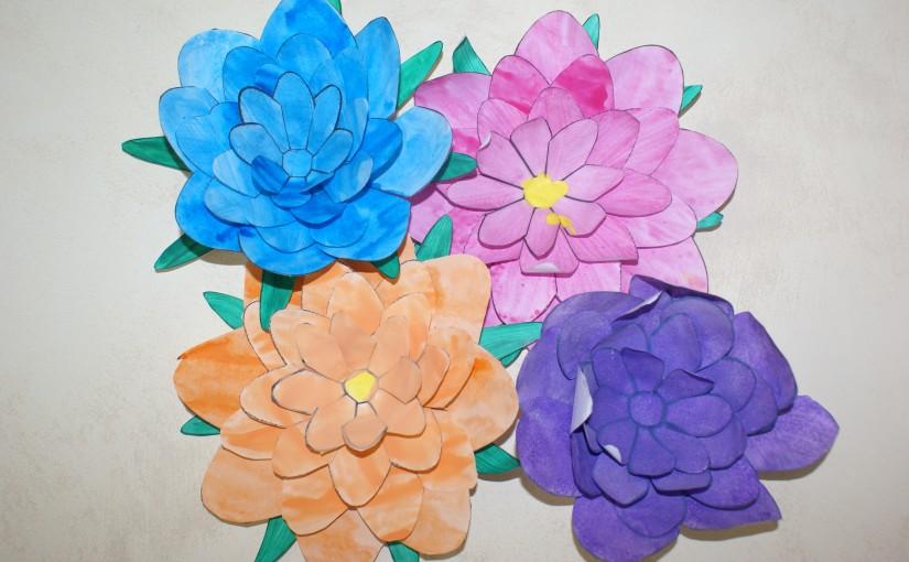 activite manuelle fleur de lotus peinture acrylique