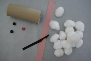 matériel pour confection de lapin en coton