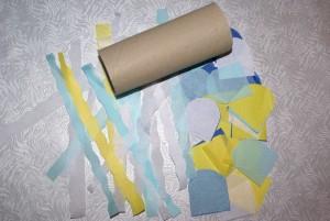 poisson d'avril en rouleau de papier toilette et papier de soie