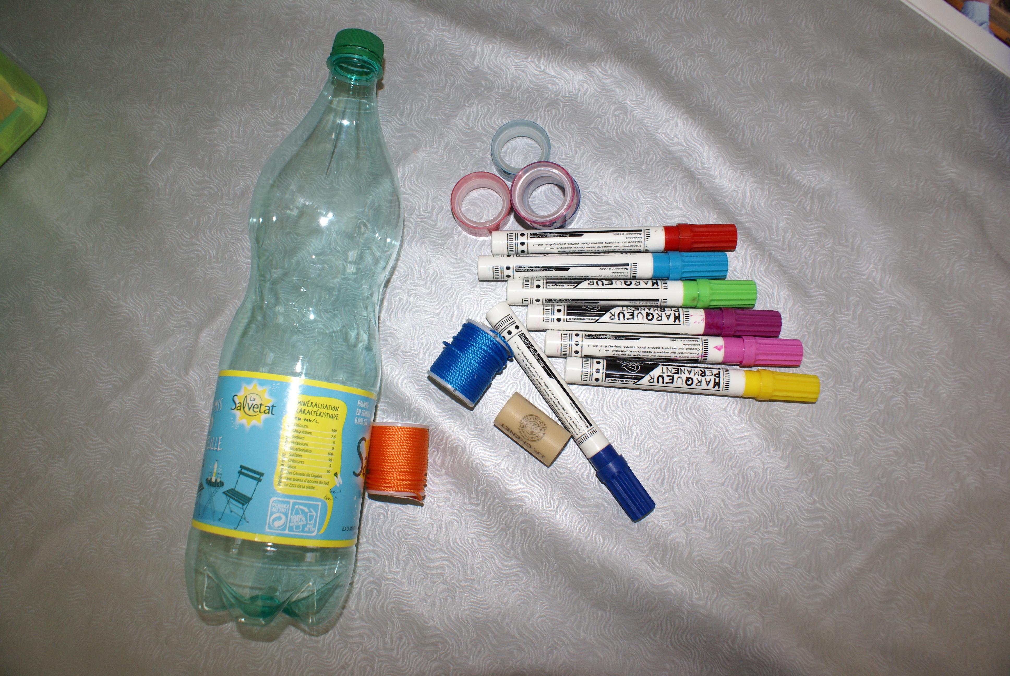 Bilboquet pour occuper l 39 apr s midi nanou laurence - Decorer une bouteille en plastique ...