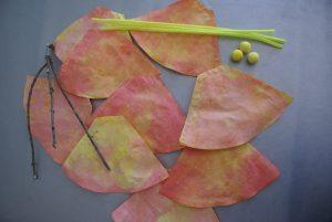 matériel pour la confection des fleurs en filtres à café