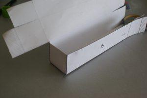 confection du couvercle de la boîte pour le set papeterie