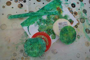 peinture des boites de camembert pour l'horloge de la fête des pères