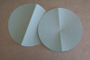 cercles en papier pour emballage cadeau