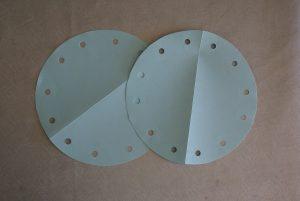 perforation des cercles pour emballage cadeau