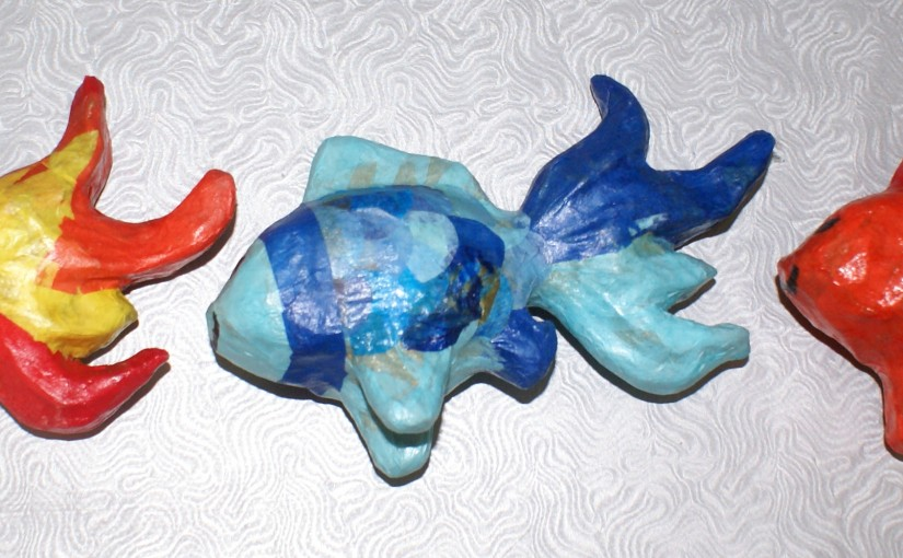 poisson en verni collage